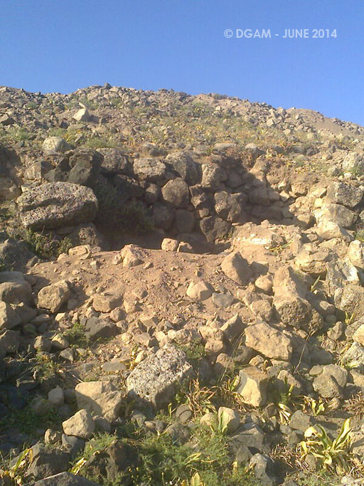 الأضرار في تل الأشعري بريف درعا الغربي
