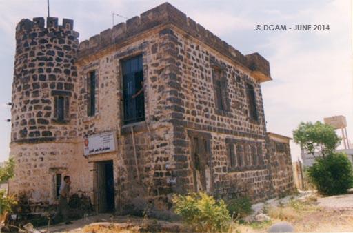 الأضرار في المخفر العثماني ببصرى الحرير في درعا