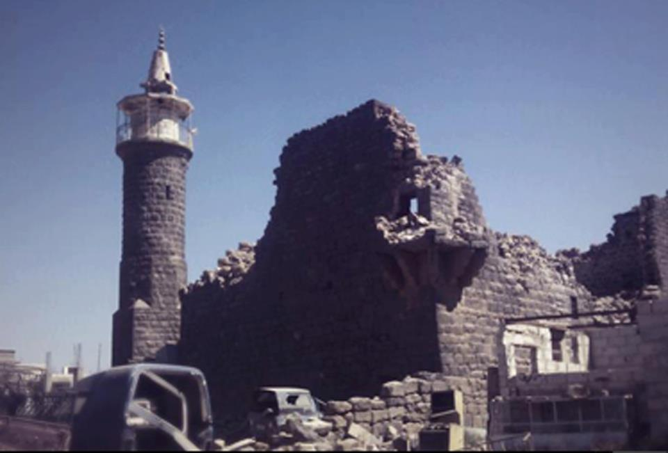 المسجد العمري الأثري في مدينة الحراك